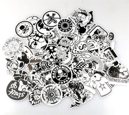 etiqueta branca da motocicleta Desconto Personalidade Rabisco Adesivos Preto E Branco Dos Desenhos Animados Etiqueta Do Doodle Automóvel Motocicleta Sorteio Bar Decorativa Decalques Parede Quarto 7 06xq A