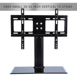 Wholesale Tv Mounts Glass - Freeshipping Flat Screen Bracket 26-32 inch LED LCD TV Stand Mount Bracket Glass Base