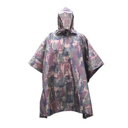 Wholesale Outdoor Backpack Raincoat - Wholesale- LUCKSTONE Outdoor Raincoat sun shelter Travel Rain Poncho Backpack Rain Cover Waterproof Tent Camping windproof poncho tarp new