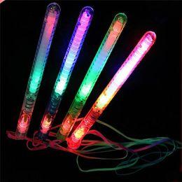 Wholesale Led Light Sticks Camping - Brand new Multi Colorful 7 Modes LED Flashing Night Light Lamp Glow Wand Sticks + strap Birthday Christmas Party festival Camp