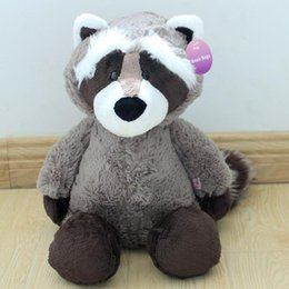 Wholesale Sitting Bears - Wholesale-1pcs sitting height 25cm NICI Coon bear plush dolls raccoon plush toy plush bear cute little coon toys girl gift kids toy