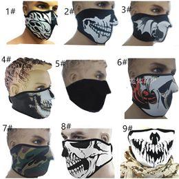 2019 filtro de ar de carbono por atacado Neoprene Meia Máscara de Esqui Aquecedor de Rosto Ao Ar Livre Esportes Ciclismo Motocicleta máscara Unisex À Prova de Poeira Metade Máscaras Faciais À Prova de Vento
