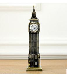 Wholesale London Metal - A large British tourist souvenirs London landmark Big Ben classic decoration model alloy core