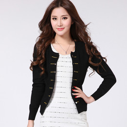 Wholesale Cashmere Lady Coat - Wholesale-New Spring Cashmere Sweater Cardigan Women's Double-Breasted O-Neck Sweaters Knit Long Sleeve Ladies Elegent Coat Sweaters