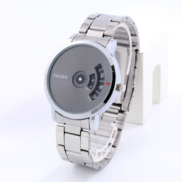 Wholesale High End Digital Watches - New men steel men's watch with quartz watch calendar Creative quartz fashion big dial high-end men's watch