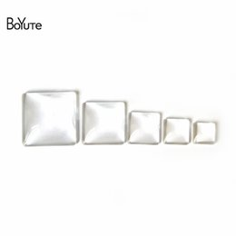 Wholesale Clear Glass Square 25mm - BoYuTe Wholesale 100Pcs Clear Glass Cabochon 10MM 12MM 15MM 20MM 25MM 30MM Square Shaped Glass Dome Diy Accessory Jewelry