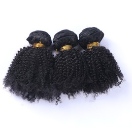 Wholesale Price Bundle - Human Hair Wefts Kinky Curly Brazilian Hair Bundles 3pcs lot Unprocessed Cheap Brazilian Kinky Curly Hair 1B Natural Color Factory Price