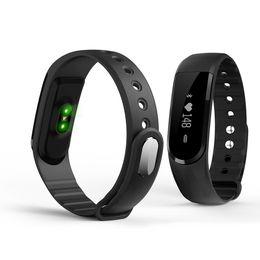 Podómetro corazón bluetooth online-ID101HR Smartband Fitness Pulsera Rastreador inteligente Actividad Bluetooth Ritmo cardíaco Rastreador Podómetro 30pcs