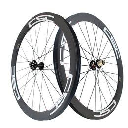 Wholesale Tubular Disc Wheels - 50mm Clincher Tubular Tubeless Disc brake cyclocross carbon bike wheels 23mm,25mm rim width 12x100mm,15x100mm 12x142mm Thru Axle