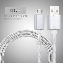 Wholesale Huawei Phone Housing - Metal Housing Braided Micro USB Cable Durable Tinning High Speed Charge Type C For Android Samsung Phone Huawei Xiaomi