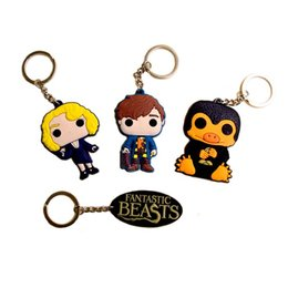 Wholesale Key Ring Findings - New Movie Fantastic Beasts Keychain Newt key chains Fantastic Beasts and Where to Find Them Pendant Queenie Key Ring 170705