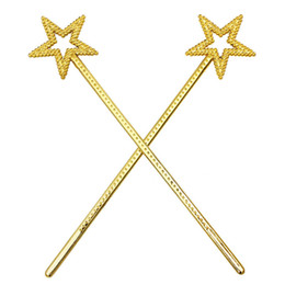 Principessa Star Wand Fairy Angel Magic Wands Party Cosplay Fancy Dress Up Costume Puntelli in plastica oro argento ZA4383 da