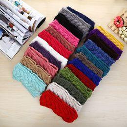 Wholesale Crochet Head Wrap Wholesale - Womens Warm Crochet Headwrap Ladies Winter Autumn Crochet Beanies Knit Headbands Hair Accessories Headwear Head Wraps Turban Bandanas