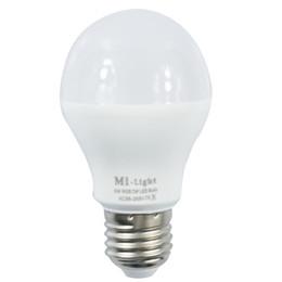 Wholesale Rgb Color Temperature - Mi Light 2.4G AC86-265V E27 6W Wifi RGB   RGBW LED Smart Light Bulb Wireless Brightness color Temperature Dimmable LED Bulb
