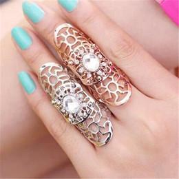 Juntas rosa on-line-Moda Conjuntos de Anel de Cristal Anel DHL Rose Jóias de Ouro Personalidade Anéis de Dedo Mão Acessórios de Moda Frete Grátis