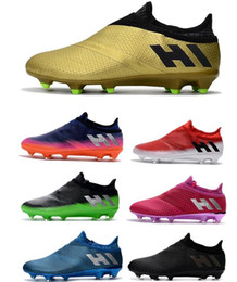 Wholesale Mens Boots For Sale Cheap - 2018 Mens Messi 16+ Pureagility FG AG Football Shoes Male Soccer Shoes Top Quality For Sale Men Soccer Cleats Cheap Sports Soccer Boots