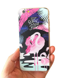 Wholesale Cute Mobile Cases - iphone 7 6 Plus Mobile Case Best Quality Cute Cartoon Flamingo Case Ostrich Phone Cases Back Cover