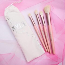 Wholesale Christmas Makeup Brush Gift Set - Kylie Jenner Cosmetics 4pcs 5pcs Pink Brush Set I WANT IT ALL 20th Birthday Collection Limited Edition Makeup brushes Christmas gift