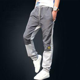 Wholesale Thick Sweatpants - Wholesale-New Fashion Plus Size Men Pants Fit Cotton jogger pants summer style Sweatpants Men's Trousers Thick Pants M~5XL Free Shipping