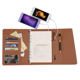 Wholesale Office Power Supplies - Wholesale- ONAN Fashion Notebook with 6000mAh Creative Desgin Business Notebook with Power Bank Office Supply Supper Gift Customized