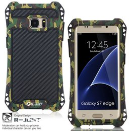 Wholesale Metal Dust Proof Phone - Phone Shell Case For Samsung Galaxy S7 S8 S7edge S8 Plus Multiple color Shockproof Dust proof Carbon Fiber Metal Armor phone Case