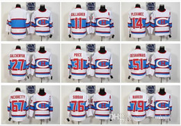 Wholesale Hockey Laces - Cord Montreal Canadiens #11 Gallagher 31 Price 27 Galchenyuk 67 Pacioretty Lace Red White Hockey Jerseys Stitched Mix Order
