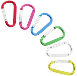 Wholesale Hook Assembly - mini Carabiner Ring Keyrings Key Chains Sport Carabiner Camp Snap Clip Hook Keychain Hiking Aluminum Convenient Hiking Camping Clip