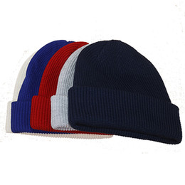 Wholesale Kniting Yarns - 2016 new fashion women men skulls beanie hot Head kniting hats spring winter sport Bboy High quality caps Multi color 10pcs