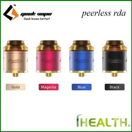 Wholesale Dual Hole - Authentic Geekvape Peerless RDA Tank 9-holes Side Airflow System with 24mm Diameter Connecting juice well Support Both Single and Dual Coil