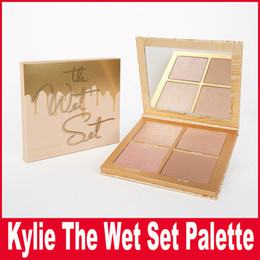 Wholesale High Press - Kylie Jenner 4 color high light eye shadow THE WET SET   PRESSED POWDER PALETTE Bronzers & Highlighters by kylie cosmetics