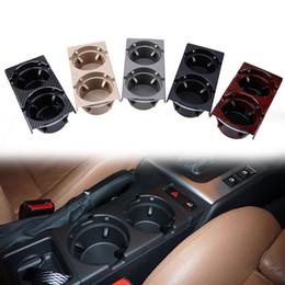 Wholesale Car Plastic Drink Holder - Black Gray Beige Carbon Peach Color Multil Car Center Console Mount Water Drink Cup Holder Phone Holder for BMW 3 Series E46