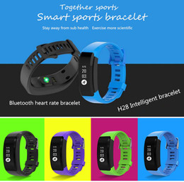 Acheter en ligne Moniteur de sommeil de podomètre-Fashion Fitness tracker, Bluetooth Fitness Tracker Watch, H28 IPX7 OLED Fitness Tracker Smartwatch Heart Monitor Pedometer Bandes bracelet