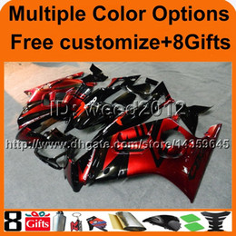 Wholesale Honda F3 Plastics - 23colors+8Gifts RED motorcycle cowl for HONDA CBR600F3 1997-1998 F3 97 98 ABS Plastic Fairing
