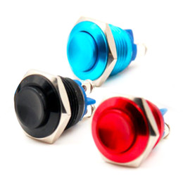 Wholesale Stainless Momentary Switch - 16mm Anti-Vandal Momentary Stainless Steel Metal Push Button Switch 1x1Raised Top B00427