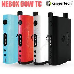 Wholesale Temperature Controlled - Original Kanger NEBOX Starter Kit 60W TC vw Temperature Control Mod 10ml SSOCC mini RBA Tank Kangertech subox plus Vapor mods vaporizer DHL