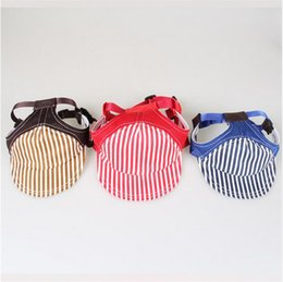 Wholesale Dog Striped - Summer Striped Dog Hat Pet Cat Baseball Cap Casual Outdoor Pet Sun Hat For Small Medium Large Dogs Travel Hiking Pet Supplies G748
