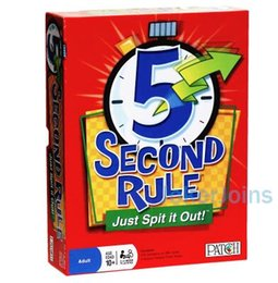 Wholesale Wholesale Kids Amusement Toys - MEW 5 Second Rule board game Card Amusement Novelty Toys 5 Second Rule Just Spit It Out Party Game KTV Games TOP1640ZZ