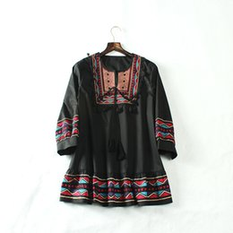 Wholesale Plaid Shirt Trend - 2017 new arrival high quality trend classic elegant fashion simple leisure leisure palace embroidery embroidery ladies shirt