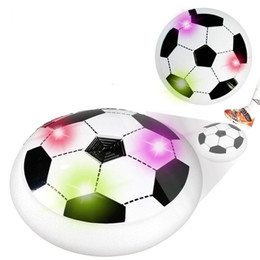 Wholesale Led Toy Football - Multicolor LED Air Soccer Hover Football Disk Disc Children Kids Boys Game Toys