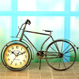 Wholesale Digital Home Alarm - Retro iron art bike seat clock, home accessories, decorative watches, European style style, decoration and practical coexistence.