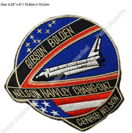 """Wholesale Usa Halloween Costumes - 4.3"""" NASA SPACE PROGRAME ORIGINAL USA CLOTH DR WHO ACE TV Movie Series Halloween Costume Embroidered iron on patch TRANSFER"""