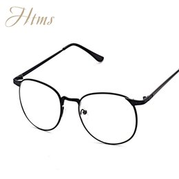 Wholesale Read Steel - Wholesale- New Brand Designer Eyeglasses Frame Vintage Plain glass clear lens reading eyewear Optical Glass gafas armacao oculos de 3115