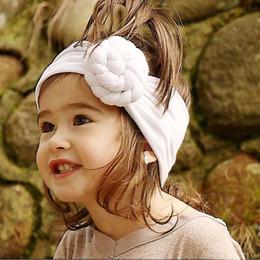 Wholesale Cotton Hair Tie - Ins Hot sale New tie a knot Cute Baby Headbands Infant Headband Cotton Girls Headbands Children Hair Accessories Kids Hair Bands A1177