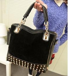Wholesale Black Studded Messenger Bag - 2012 Women bags Restore ancient Studded leather bag rivet Leather Handbags Tote Messenger Shoulder B