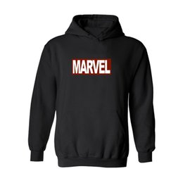 Wholesale Marvel Sweatshirt Top - Marvel DC Comics Captain America Men Fashion Sweatshirt Hoodie Coat Hooded Jacket Sweater Pullover Tops Hoodies with Hat Fleece Casual