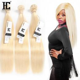 Wholesale Top Piece Hair Blonde - Brazilian Hair 613 Blonde Straight Human Hair 3 Bundles Brazilian Blonde Straight Human Hair Weave Unprocessed Top Quality 613 Color