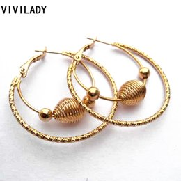 Wholesale Basketball Wives Fashion Jewelry - VIVILADY Fashion Punk Lead Nickel Free Gold Plated Big Basketball Wives Hoop Earrings Female Girl Jewelry Bijoux Accessory Gifts