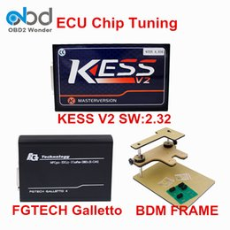 Wholesale Bdm Frame Galletto - Wholesale- Best Price ECU Programmer KESS V2 V2.32 Plus BDM FRAME Programmer And FGTECH Galletto 4 V54 Full Adapters Free Shipping