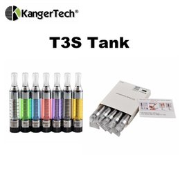 Wholesale Mini Tank Ecig - Original Kangertech T3S Vaporizer Atomzier eGo 510 Thread 3ML Sub ohm Tank ecig Vs Kanger Toptank Mini Aspire Nautilus Ceramic Donut