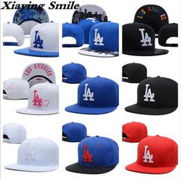 Wholesale Outdoor Snapbacks - Brand LA Snapback Adjustable Caps Outdoor Hip Hop Hats Sports fitted Snap Back Cap Baseball Hats Wholesale Men Women LA Embroidery Dodgers
